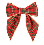 Red scottish bow - Xmas Royalty Free Stock Images