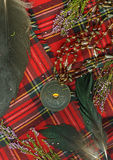 Red scottish plaid royalty free stock photography