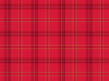 Red Scottish tartan Royalty Free Stock Photo