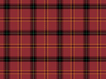 Red Scottish tartan Royalty Free Stock Photography