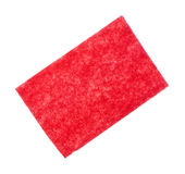 Red Scouring Pad Stock Photography