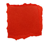 Red Scrap Paper Royalty Free Stock Image