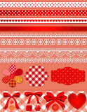Red scrapbook set Stock Photography