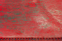 Red scratched metal background texture Stock Image