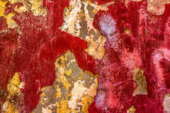 Red Scratched Wall Royalty Free Stock Photo