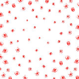 Red scrawl background Stock Images