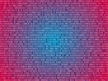 Red screen binary code screen Stock Image