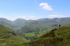 Red Screes Brothers Water English Lake District Stock Photos