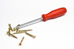 Red screwdriver Royalty Free Stock Photo