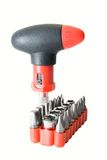 Red screwdriver set Royalty Free Stock Photo