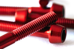 Red screws Royalty Free Stock Photos
