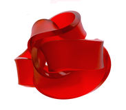 Red sculpture Stock Images