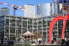 Red Sculpture By Alexander Calder In La Defense Paris France stock image
