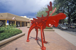 Red sculpture at an art gallery in Santa Fe, NM Royalty Free Stock Image