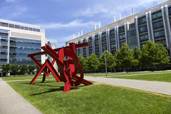 Red sculpture, Boston Stock Photo