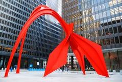Flamingo by Alexander Calder, Chicago royalty free stock photos
