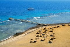 On the Red Sea. Beach on the Red Sea. Egypt, Sinai Peninsula, Taba stock image