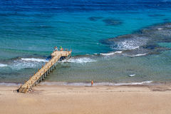 On the Red Sea. Beach on the Red Sea. Egypt, Sinai Peninsula, Taba stock photography