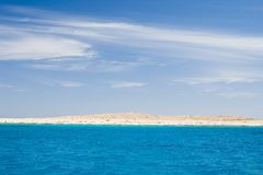 Red sea. Coast of the red sea. blue sea and sky Stock Photos