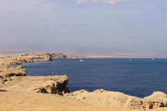 Red sea around Ras Mohamed royalty free stock images