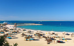 Red sea baech resort Stock Image