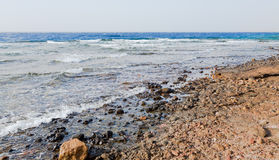 Red Sea beach. Near Aqaba city, Jordan Royalty Free Stock Photography