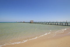 Red Sea Beach and Pier Royalty Free Stock Photos