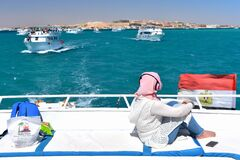 Red sea boat trip in the Red sea near Hurghada