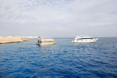 Red sea boats, Sharm el Sheikh. Egypt Royalty Free Stock Images