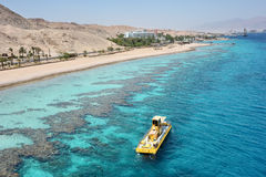 Red sea coast and coral reef Royalty Free Stock Photography