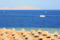 Red Sea coast. Red Sea coast opposite the island of Tiran Royalty Free Stock Photography