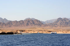 Red Sea Coastal View. Showing the barren desert region of the Sinai Peninsula around the Red Sea, Egypt Stock Photography