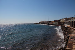 The red sea in Dahab of Egypt. Dahab is located in the southeast of Egypt's sinai peninsula, is a small population of the town, but here is the world's three Royalty Free Stock Images