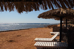 The red sea in Dahab of Egypt. Dahab is located in the southeast of Egypt's sinai peninsula, is a small population of the town, but here is the world's three Royalty Free Stock Photo
