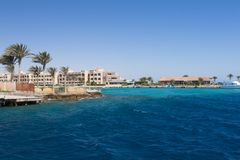 Red sea, Egypt. Beautiful view on the shore of Red Sea Royalty Free Stock Image