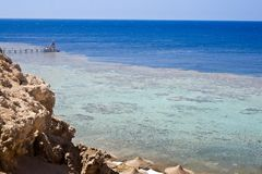 Red Sea in Egypt. Coast of the Red Sea in Egypt Royalty Free Stock Images