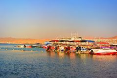 Red sea. Eilat. The shore of the Gulf of Aqaba stock image