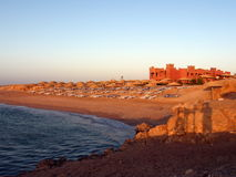 Red Sea landscape. A landscape from Red Sea, with a sea and beach view in the morning Royalty Free Stock Photo