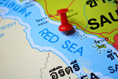 Red sea map Royalty Free Stock Images