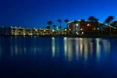 Red Sea resort at night Royalty Free Stock Photography