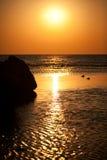 Red sea sanrise. Beautiful sunrise in Red sea Royalty Free Stock Photo
