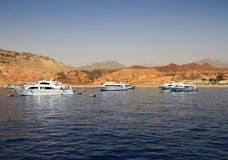 Red Sea scenery. Cruise on Red Sea from Sharm el Sheikh - Egypt Royalty Free Stock Photo