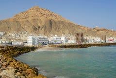 Red sea shore in Al Mukalla, Yemen. Red sea shore and beach in Al Mukalla, Yemen Stock Images