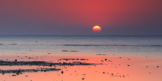 Red sea sunrise Stock Photo