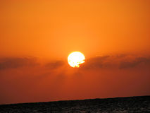 Red Sea sunrise. Wonderful Sunshine by the red Sea in Hurghada Egypt Stock Photos