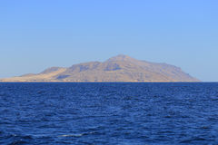 Red sea and Tiran island Stock Photos