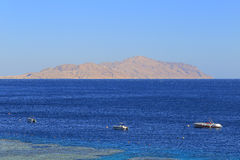 Red sea and Tiran island. In Egypt Stock Image