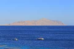 Red sea and Tiran island Royalty Free Stock Images