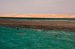 Red sea in Hurghada in Egypt Stock Photo