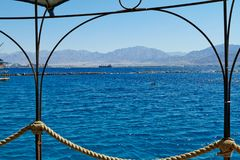 Red Sea view from the dolphin reef royalty free stock photo